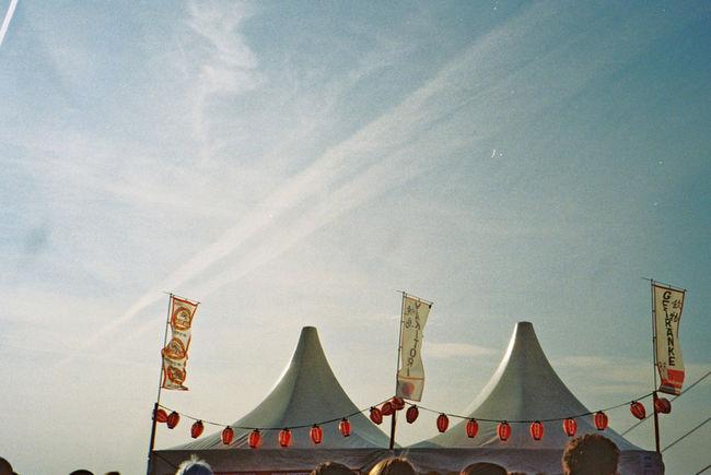 Blue Sky Japantag Düsseldorf Lampions Rheinufer Roof Sunny Tent