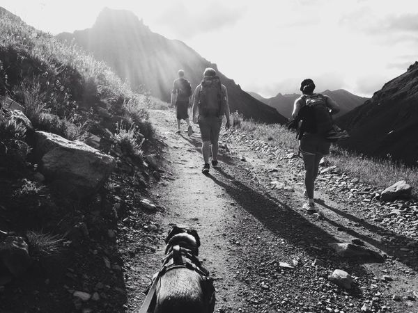 The Team setting out Hiking up to Mt Sneffels Summer 2014