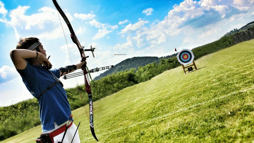 Archery Pfeil Und Bogen Shootingstar Sports Photography Just In Time Arrow Target Capture The Moment
