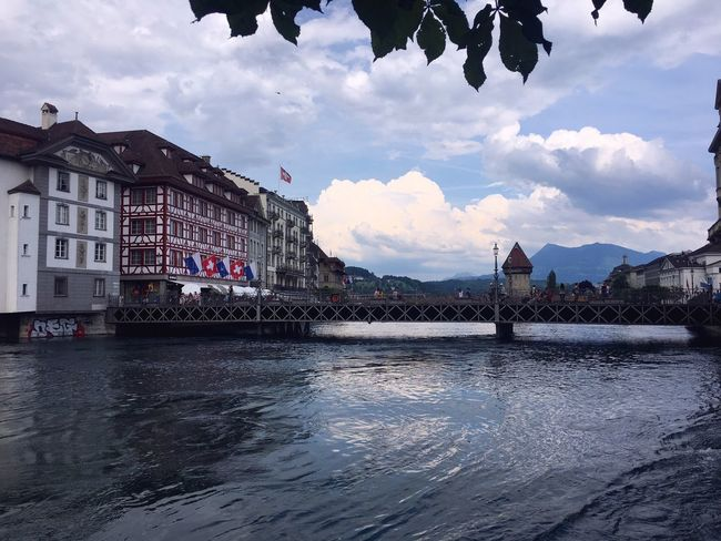 Architecture Cloud - Sky Sky Water Building Exterior Mountain Waterfront Outdoors Day Travel Destinations Nature No People City Landscape_Collection Luzern Historical Building
