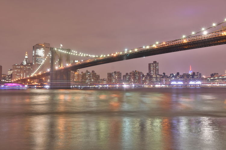 New York Brooklyn Bridge / New York East River Manhattan New York New York City New York ❤ Riverside Architecture Building Exterior Built Structure Bulb Bulbs City Cityscape Illuminated Langzeitaufnahme Langzeitbelichtung Nature Night Outdoor Photography Outdoors Riverview Sky Skyscraper Water It's About The Journey