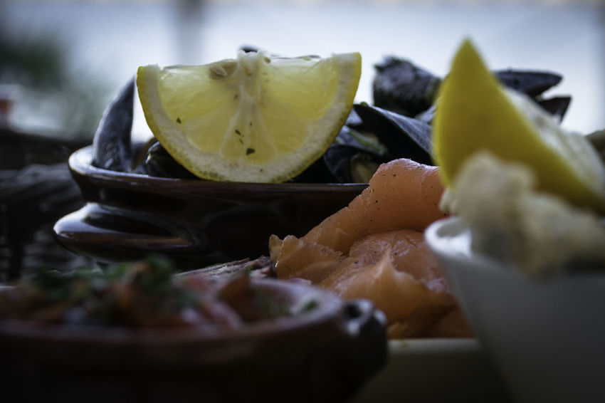 Seafood Close-up Food Food And Drink Freshness Italian Food Lemons Mussels No People Plate SLICE Food Stories