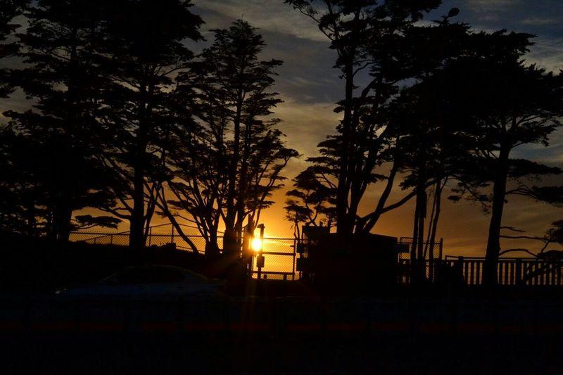Golden Gate Bridge Sunset Nature Sky
