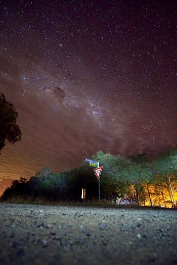 Astronomy Australia Beauty In Nature Galaxy Illuminated Nature Night No People Outdoors Scenics Sky Star - Space Tranquility Tree