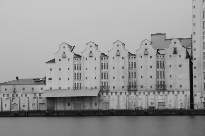 rainy day Black & White From My Point Of Rainy Day Black & White Monochrome Harbour Port Area Industrial Building  Sky Built Structure Building Exterior Architecture Water Waterfront Building No People Outdoors House