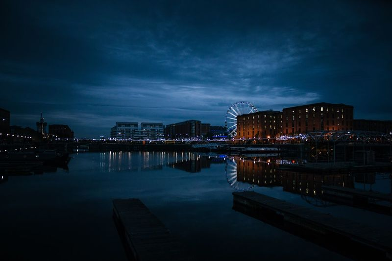 Liverpool docks Blue Outdoors Weather Tranquil Scene Water Water Reflections Landscape Sky