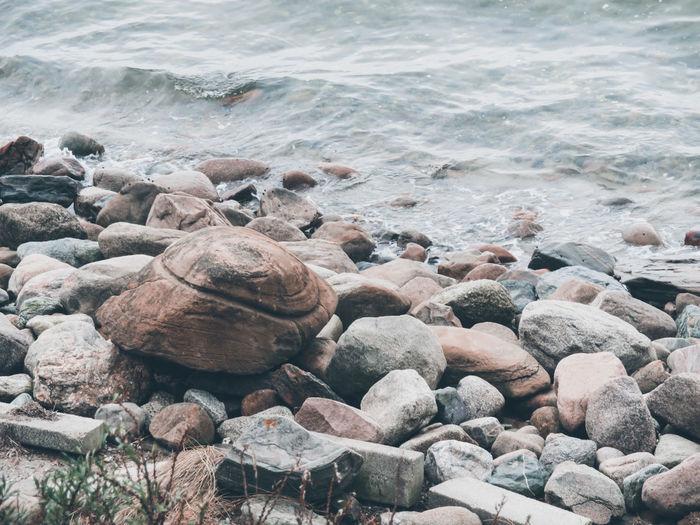 EyeEm Selects Pebble Beach Water Wave Sea Beach Pebble Shore Close-up Coast Coastline Rocky Coastline The Great Outdoors - 2019 EyeEm Awards The Traveler - 2019 EyeEm Awards