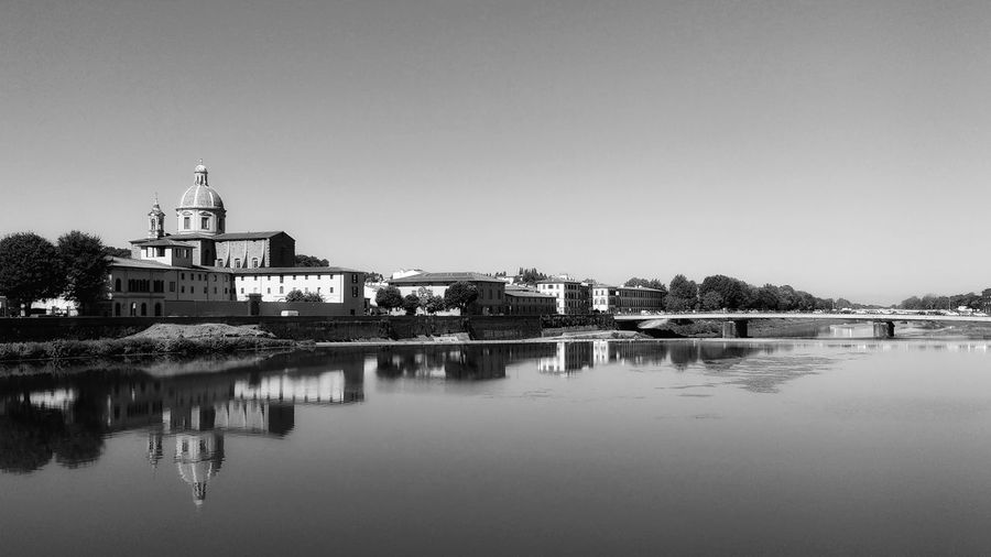Reflexes of Florence in the Arno river Outdoors Reflection River Tranquil Scene Architecture Water Day Tranquility Canal First Eyeem Photo