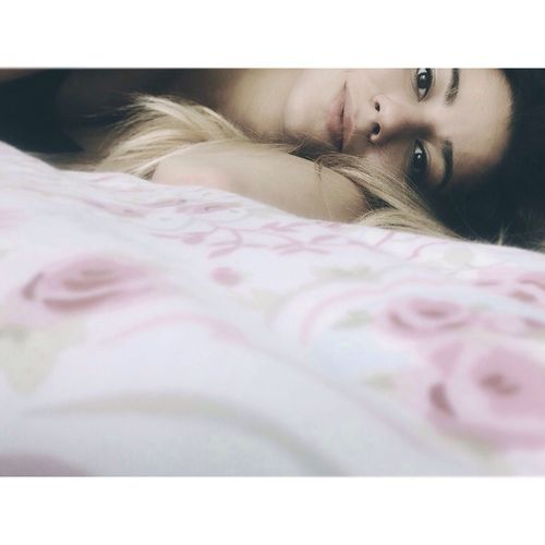 Selfie Girl Hair Bored