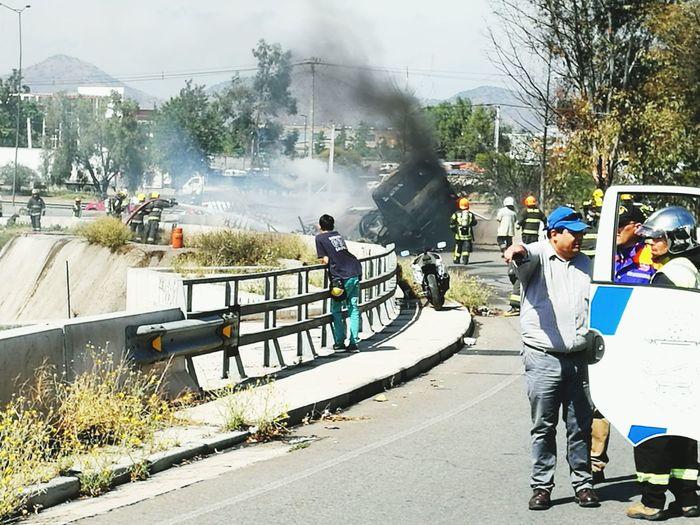 Accidente de Camion de Gas en Americovespucio Santiago De Chile First Eyeem Photo