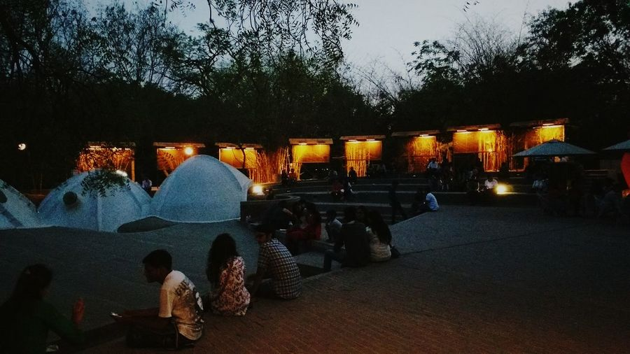 Hangout eve @amdavad ni gufaHangouts  Places Peace Evening Friends Cafe Architecture Ahmedabad First Eyeem Photo