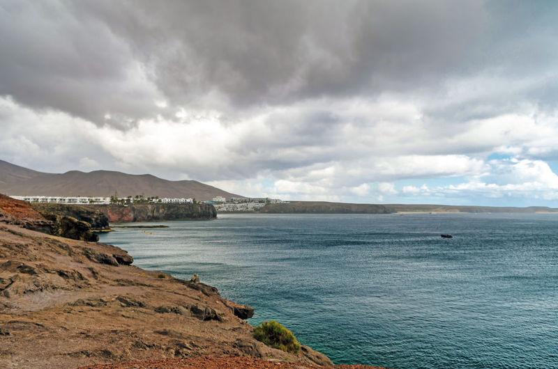 Canary Islands Lanzarote Playa Blanca Las Palmas SPAIN Water Mountain Sea Beach Cultures Dramatic Sky Sky Landscape Cloud - Sky Mountain Range My Best Photo