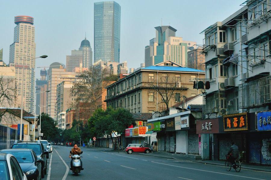 Goodmorning Street Traveling In China Nanjing