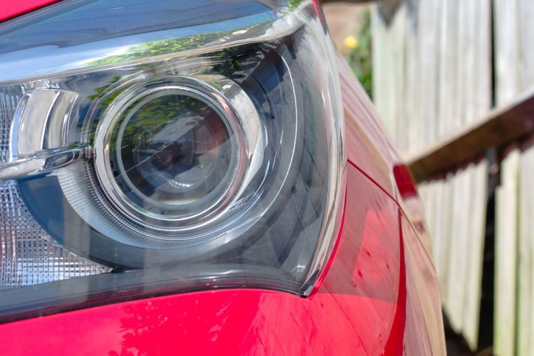 A lot of work put into these headlights Projector Headlights Toyota Yaris Toyota Yaris Headlight Car Chrome Close-up Headlight Mode Of Transportation Projector Headlamp Red Shiny Transparent