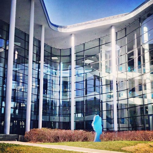 Telenor Hungary. Architecture Built Structure Building Exterior Working Outdoors No People Telenor Telenorhaz Mobile Telecommunication Telco Architecture Architecture Photography Columns Window Transparency Workplace