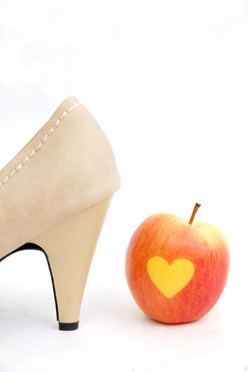high heels Apple Love Red SexyGirl.♥ Studio Valentine's Day  Attraction Black Close-up Clothing Day Female Hear Heart Heart Shape High Heels Leather Shoes Love Apples No People Red Apple Sexygirl Shoes White Background