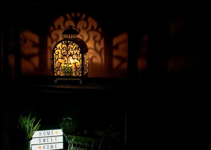 Home is life Window Communication Lantern Signboard Oil Lamp Jack O Lantern Information