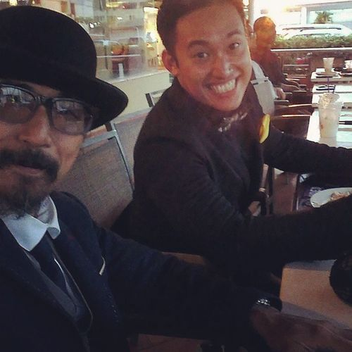 """I can't comment on his """"Dj""""ing skills but that grin could kick Prostate Cancer's butt! It's @nadzthenadz Yeewwww!! DGRBrunei14 Gentlemansride Latepost Motorcyclepeople oldSkateBuddy myHipsterFriends noHate"""