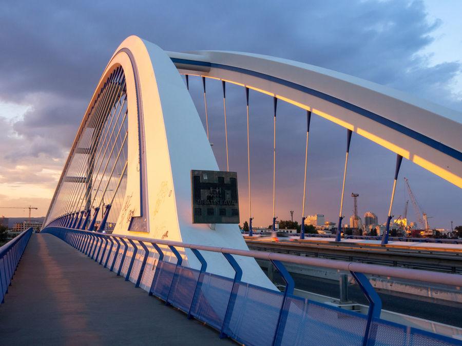 Apollo bridge Bratislava Slovakia Danube Danube River River EyeEm Selects City Modern Bridge - Man Made Structure Water Road Sky Architecture Built Structure Bridge