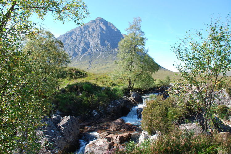 Etive Mor Glencoe Beauty In Nature Clear Sky Day Forest Growth Landscape Mountain Mountain Range Nature No People Outdoors Rock - Object Scenics Sky Tranquil Scene Tranquility Tree Water