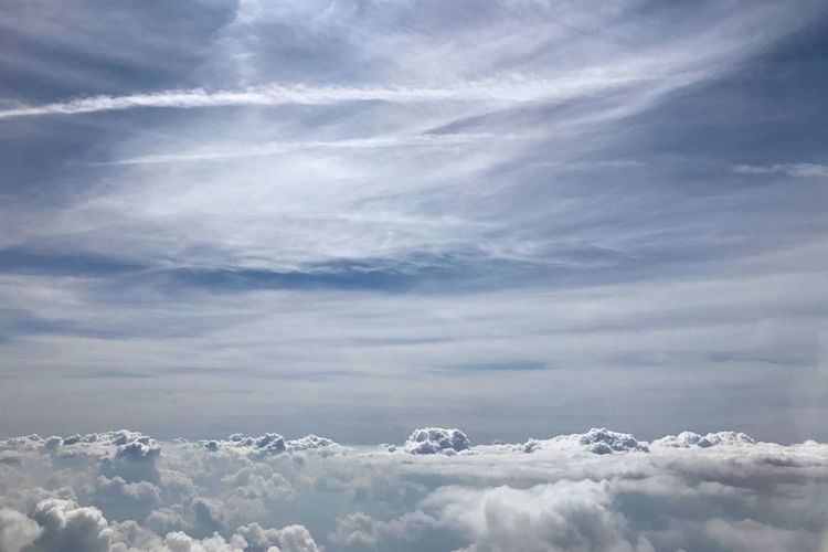 IPhoneography Backgrounds Landscape Cloud - Sky Sky Beauty In Nature Nature Day Scenics - Nature No People Tranquility Tranquil Scene Cloudscape Idyllic White Color Fluffy Blue Sunlight Heaven Meteorology