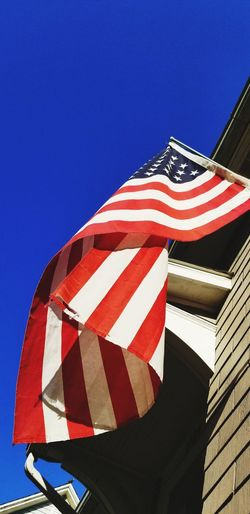 Stars And Stripes Clear Sky Blue Patriotism Flag Cultures Striped Sky Architecture National Icon Fluttering Flag Pole American Flag Identity Symbolism Bauble National Flag Historic