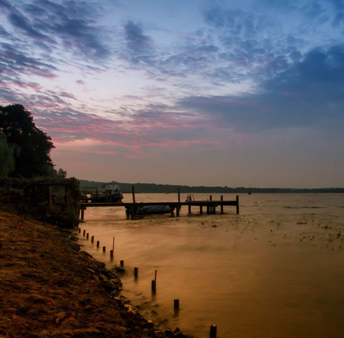 Beach Beauty In Nature Brandenburg Cloud - Sky Day Lake View Lakeview Morning Morning Sky Morning Sun Nature No People Outdoors Petzow Pier Scenics Sea Sky Sunrise Sunset Tranquil Scene Tranquility Water