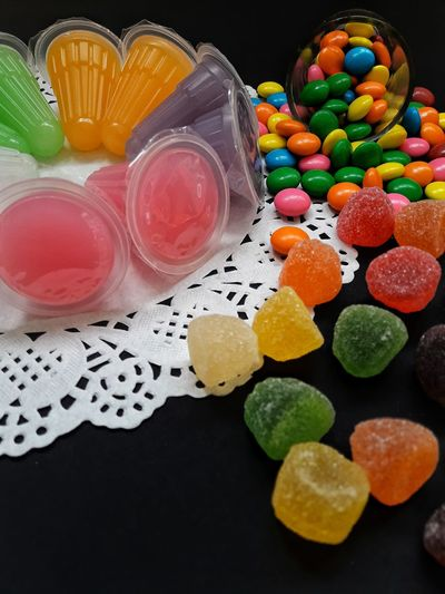 Sweety! Multi Colored Candy Sweet Food Indoors  Food Close-up No People Table Variation