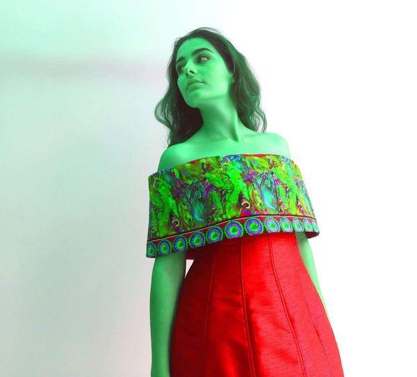 Red Patterns Young Women Studio Shot Fashion Posing Dress The Creative - 2019 EyeEm Awards