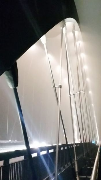 Osthafenbrücke in Frankfurt am Main an Silvester 2015