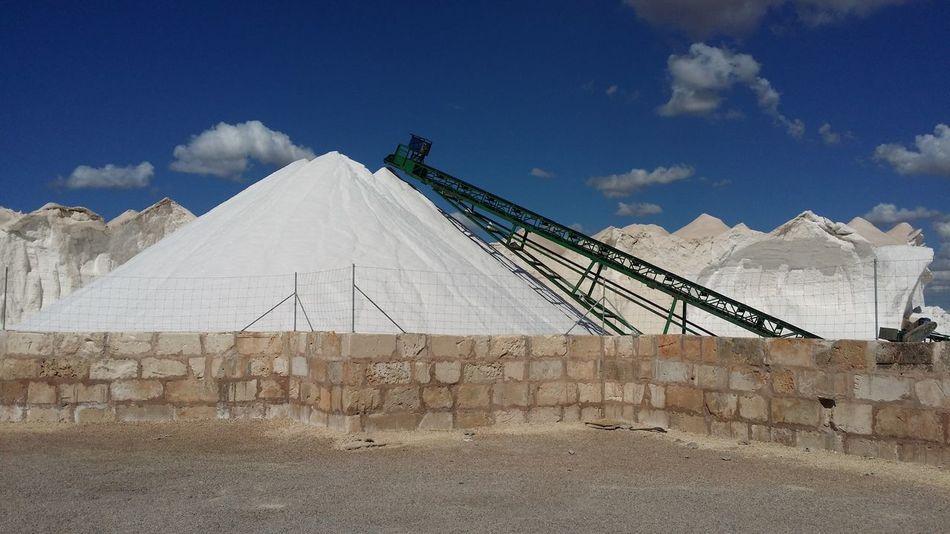 Low Angle View Mallorca Salt Salt Mountain Sky