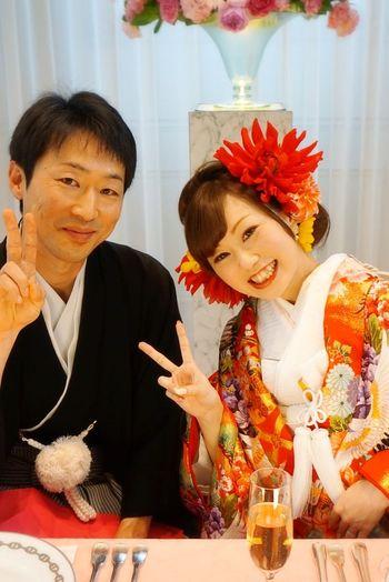 Two People 和装 Mywedding Celebration Wedding Photography Japan 日本 Celebration Event Selfie ♥ やぴ Makeup ♥ Beauty Hairset 結婚指輪 Itsme 結婚式 アニヴェルセル Tiffany&Co. Flower Head Welcomeboard Hairstyle 💇 結婚式記念日