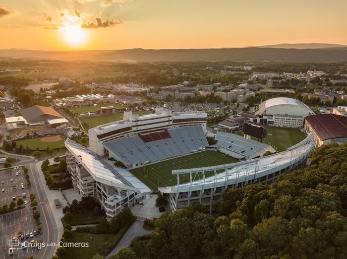 DJI Mavic Pro Drone  HOKIES Virginia Tech Virginia Tech Football  Aerial Photography Aerial View Architecture Building Exterior Built Structure City Cityscape Day Dji High Angle View Nature No People Outdoors Sky Sport Stadium Sunset Town Tree