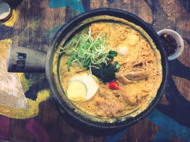 The Week On EyeEm Food And Drink Food Freshness Indoors  Nyonyafood Claypot Laksa No People Ready-to-eat Vegetable High Angle View Meat Bowl Directly Above Close-up Day Food Stories
