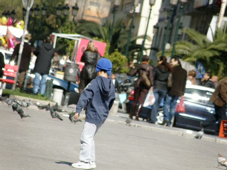 Daily Momments Kids Fashion  Alone In The City  Seeking Aristotelous Shinny Day Thessaloniki Greece