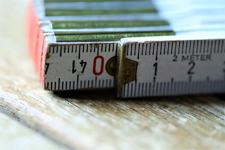 Indoors  Accuracy Still Life Communication Instrument Of Measurement Number No People Selective Focus Close-up Ruler Wood - Material Table Tape Measure Wellbeing Preparation  Food Day Business Relaxation