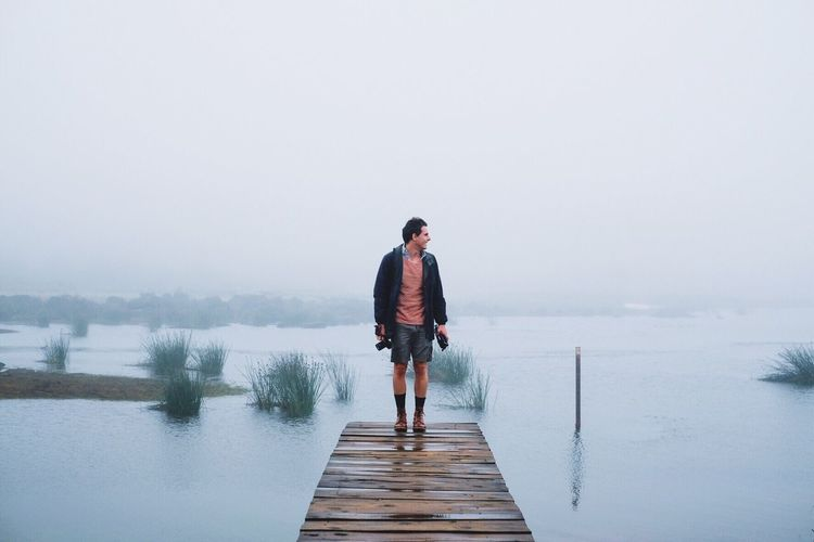 Misty moments with Zach in Zimbabwe. Man Nature