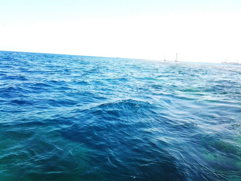 Sea Water Horizon Over Water Beauty In Nature Blue Outdoors Nature Clear Sky Wave Beach No People Sky Rippled Tranquility Portsudan Blue Sea Tranquil Scene Day Outdoor Light