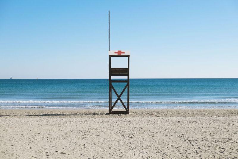 Lifeguard cabin on beach