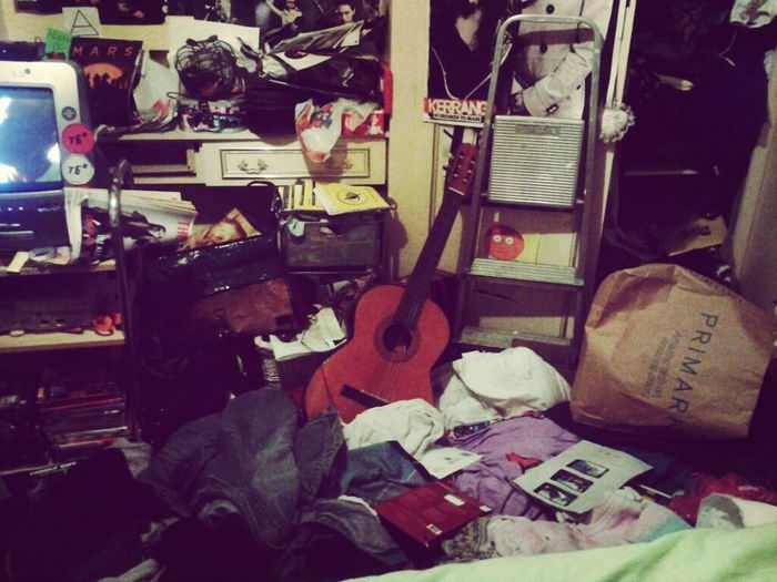 My Room Is Just A Sea Of Mess.