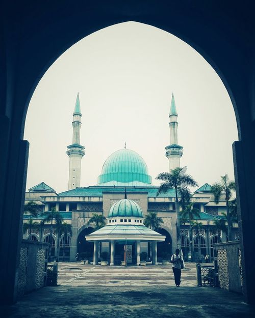 Sultan Haji Ahmad Shah Mosque, IIUM, Malaysia Kuala Lumpur Masjid Mosque IIUM Sultan Haji Ahmad Shah Mosque Dome Built Structure Architecture Travel Destinations Building Exterior