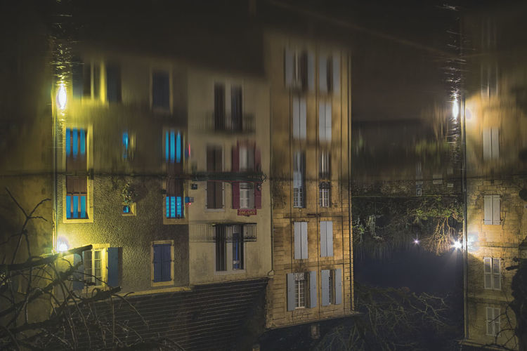Architecture Building Exterior Built Structure Illuminated Night No People Outdoors Residential Building Water Window