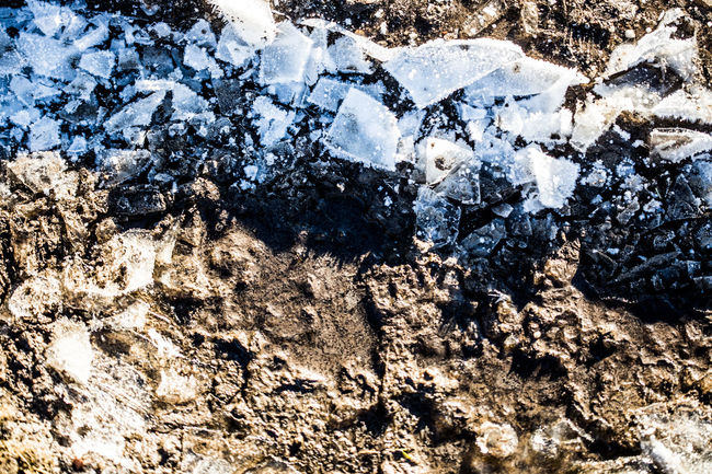 shattered ice in contrast to mud Background Backgrounds Blue Brown Contrast Details Of Nature Eye4photography  EyeEm Gallery Frozen Ice Mud Nature Nature_collection Shattered Shattered Ice Texture Top View Winter Winter Details