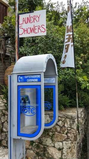 Mulitfunctional Phone-Box :-) Greece Lefkada Phone Phone Box Phone Booth Multifunctional Multi Use Laundry Shower Call Call For Help Lefkada, Greece Technology Everywhere Technology I Can't Live Without Technology Technology Everywhere Miracle Of Life Miracles It Works! It Works Great Idea  Wonder Wunder Der Technik