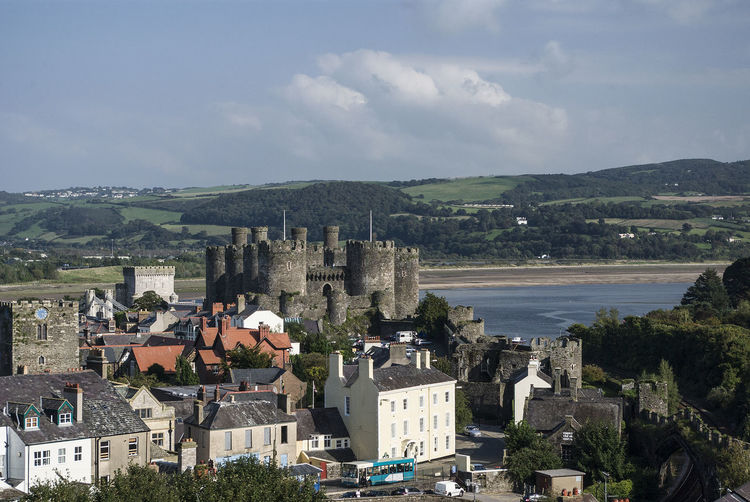 Sky Day Nature Outdoors Conwy Castle Architecture Building Exterior Built Structure High Angle View