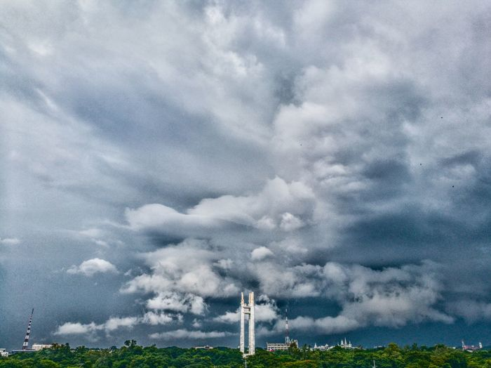 Cloud - Sky No People Nature Day Outdoors Beauty In Nature Sky Fuel And Power Generation Power Station Scenics Green Color Old Buildings