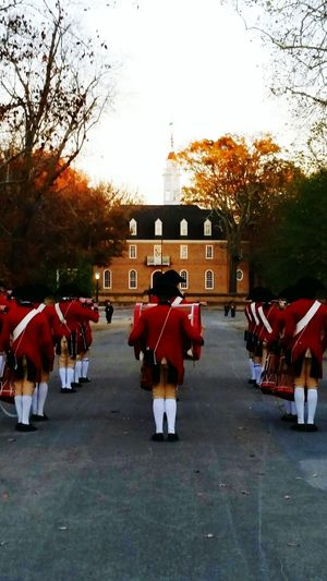 The Following Williamsburg Va Fife And Drum Marching Ending Cereamony Close Of Day 2016 EyeEm Awards Historical Places Historical Building Tourism