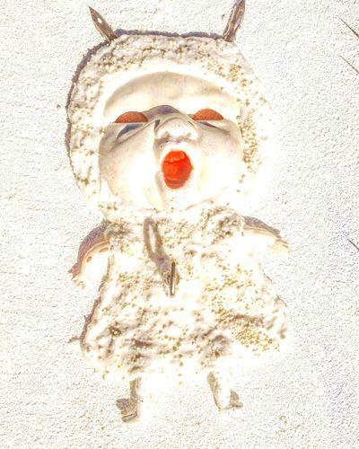 Work In Progress Doll Face Docka Dollart Art Konst