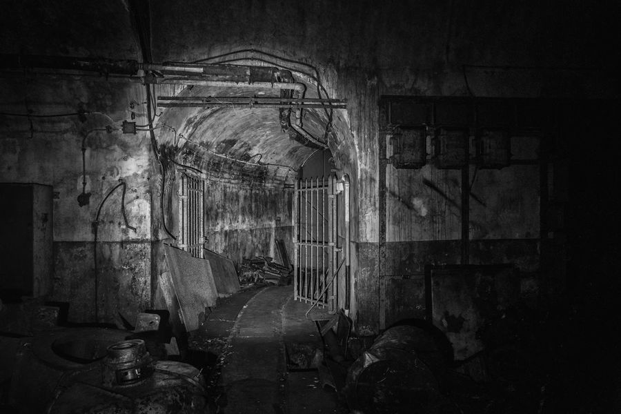 Abandoned bunker of the Maginot line, somwhere in France. Black & White Bunker Dark Darkness Decay Derelict France Underground Urban Exploration World War 2 Abandoned Army Black Black And White Blackandwhite Blue Cold War Deterioration Dirt Maginot Maginot Line Military Ruined Tunnel Urbex