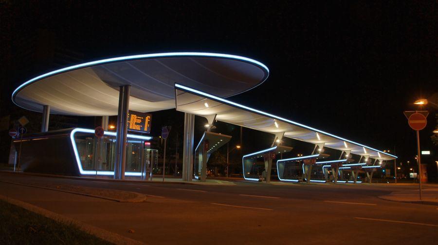 Night Illuminated Architecture Sky Transportation Built Structure Street